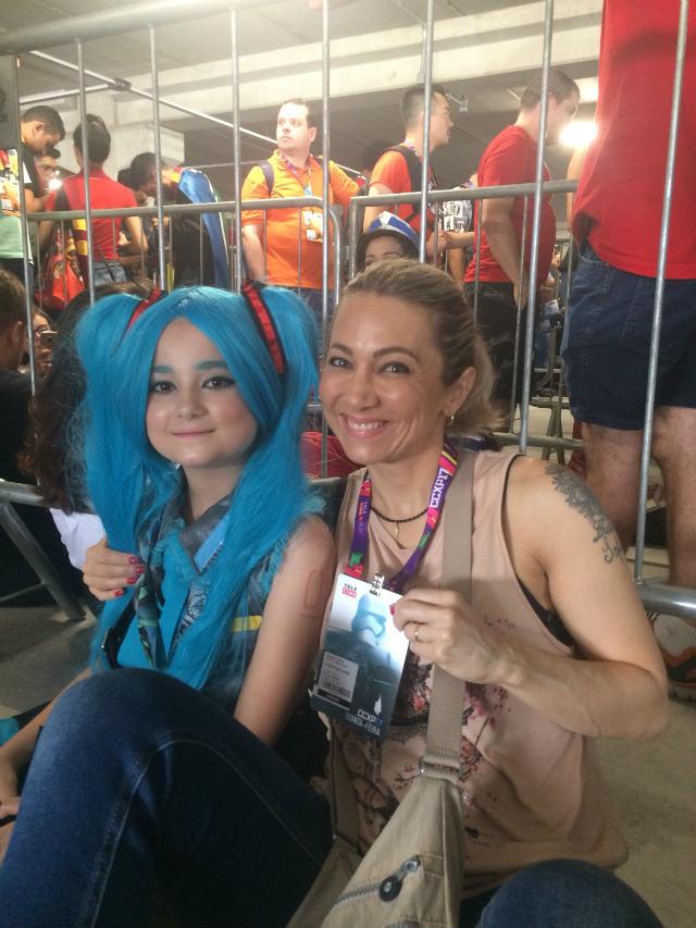 Um dia na CCXP 2017, mãe efilha